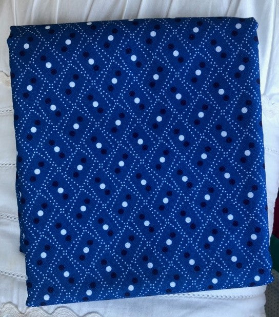 Somerset Collection Zig Zag Blue ~ Fabric By The Yard / Half Yard / Fat Quarter