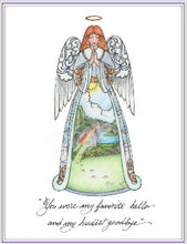 Load image into Gallery viewer, Rainbow Bridge Angel ~ Sketch Art Print