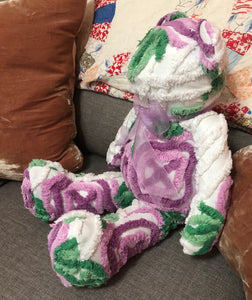 Chenille Teddy Bear - Various Colors