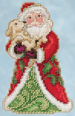Cross Stitch Kit ~ Best Friend Santa