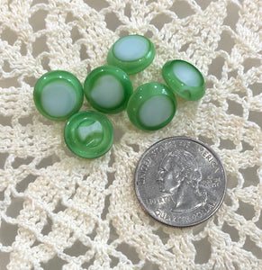 Vintage Buttons ~ Green (Moonglow)