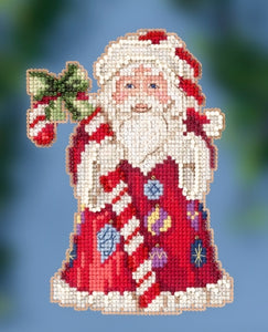 Cross Stitch Kit ~ Candy Cane Santa