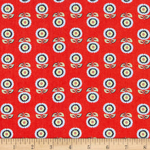 Load image into Gallery viewer, Orleans Collection Claudine Red ~ Fabric By The Yard / Half Yard / Fat Quarter