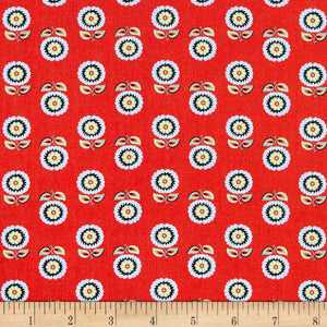 Orleans Collection Claudine Red ~ Fabric By The Yard / Half Yard / Fat Quarter