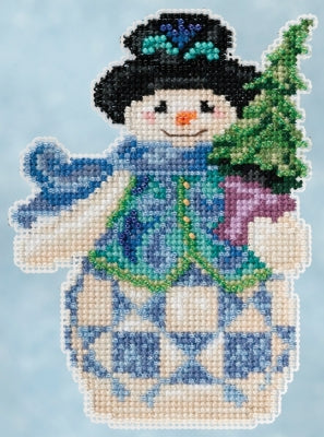 Cross Stitch Kit ~ Evergreen Snowman
