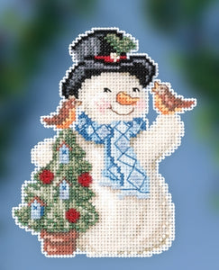 Cross Stitch Kit ~ Feathered Friends Snowman
