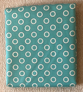 Reproduction Collection Teal Circles ~ Fabric By The Yard
