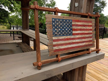 Load image into Gallery viewer, Framed Wooden Flag