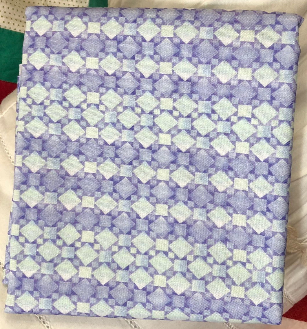 White Woodland Geo Stripe Texture Periwinkle ~ Fabric By The Yard