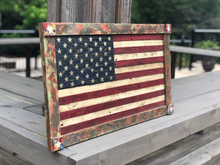 Load image into Gallery viewer, Colorful Framed Wooden Flag