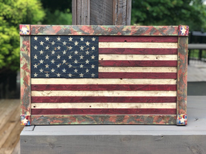 Colorful Framed Wooden Flag