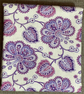 Violette Allover White ~ Fabric By The Yard / Half Yard/ Fat Quarter