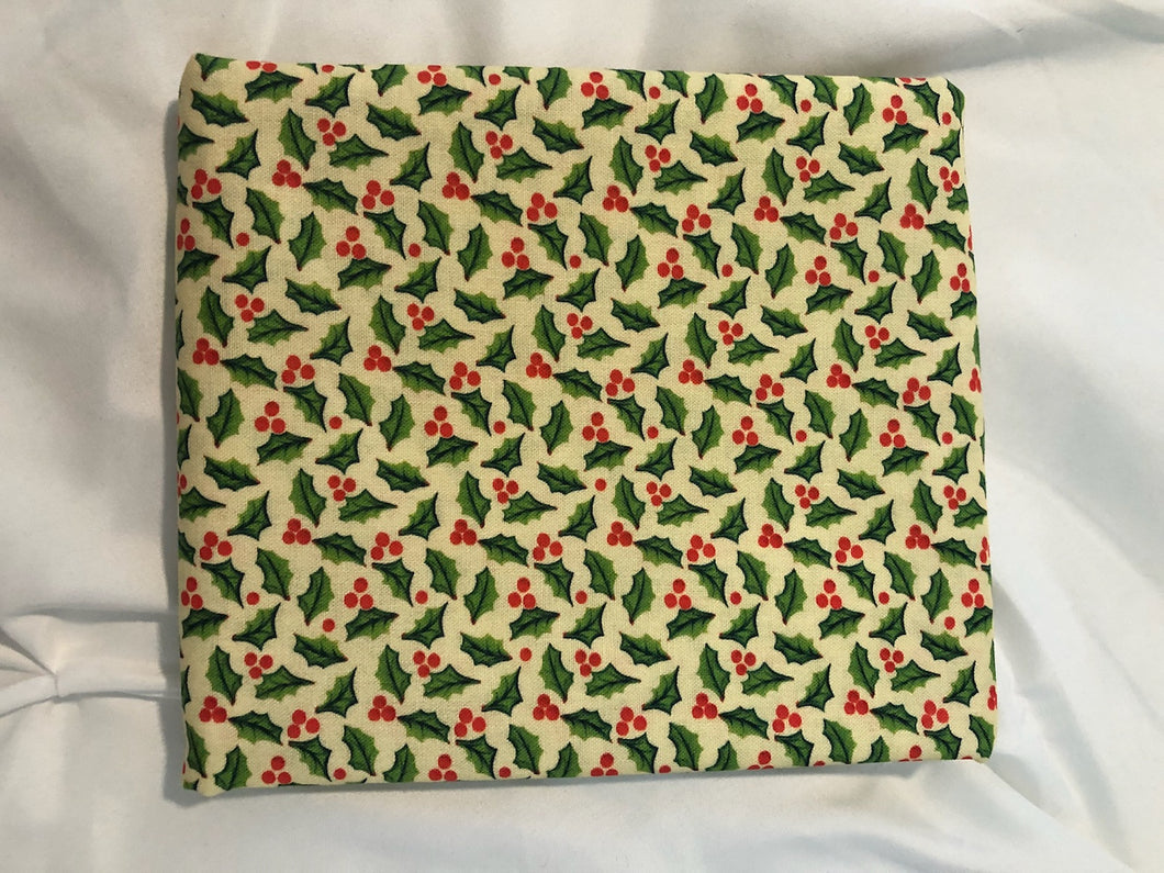 A Quilter's Christmas Collection Jolly Holly Cream ~ Fabric By The Yard