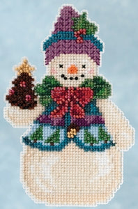 Cross Stitch Kit ~ Pinecone Snowman