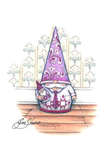 Load image into Gallery viewer, Jim's Signature Purple Gnome ~ Sketch Art Print