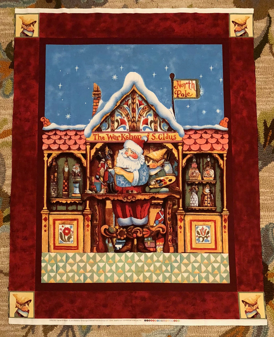 Jim Shore's Santa & Elf~ Panel