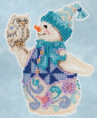 Cross Stitch Kit ~ Snowy Owl Snowman