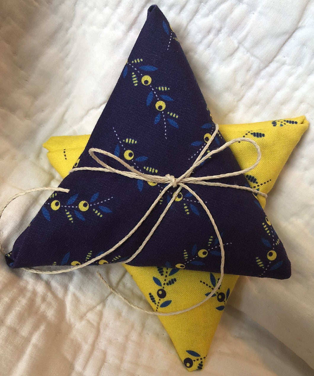 Somerset Collection Yellow & Blue Sprigs ~ 2 Fat Quarters