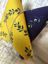 Load image into Gallery viewer, Somerset Collection Yellow & Blue Sprigs ~ 2 Fat Quarters