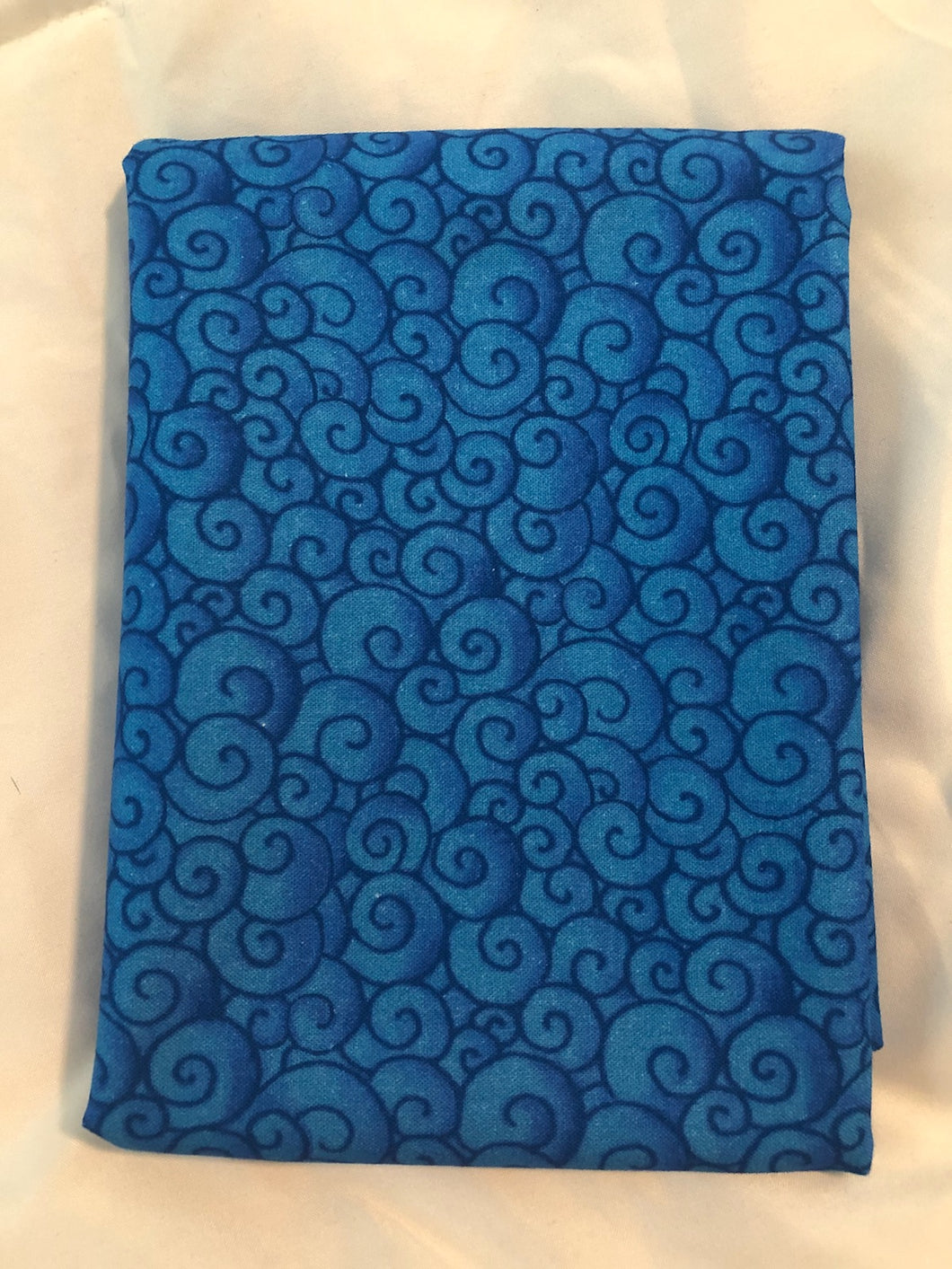Awaken The Day Collection Swirls Blue ~ Fabric By The Yard