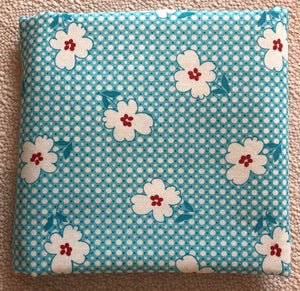 Reproduction Collection Teal & White ~ Fabric By The Yard