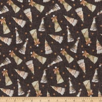 River's End Collection Tossed Trees Charcoal ~ Fabric By The Yard