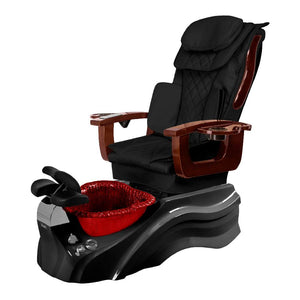 Osaki Pedicure Chair Base Black / Black / Burgundy / Without Jet FREE Elina & Vent Primo Base Set