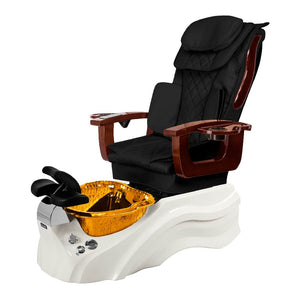 Osaki Pedicure Chair Base Black / White / Amber Clear / Without Jet FREE Elina & Vent Primo Base Set