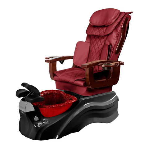 Image of Osaki Pedicure Chair Base Wine / Black / Burgundy / Without Jet FREE Elina & Vent Primo Base Set