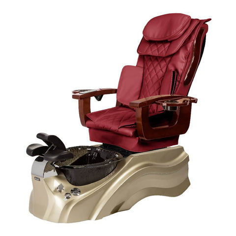 Image of Osaki Pedicure Chair Base Wine / Rosegold / Black Clear / Without Jet FREE Elina & Vent Primo Base Set