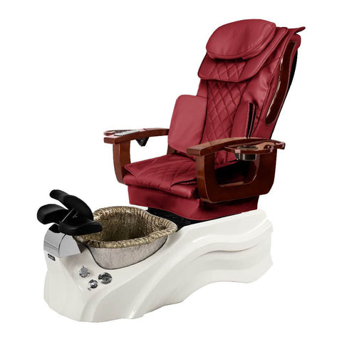 Image of Osaki Pedicure Chair Base Wine / White / Silver / Without Jet FREE Elina & Vent Primo Base Set