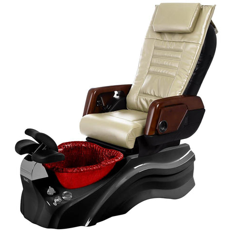 Image of Osaki Pedicure Chairs Beige / Primo with Vent Blavk / Red / With Jet Free OS-OP-05 with Primo Base Set
