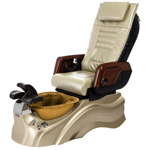 Osaki Pedicure Chairs Beige / Primo with Vent Gold / Gold / With Jet Free OS-OP-05 with Primo Base Set