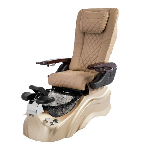 Osaki Pedicure Chairs Beige / Rosegold / Black Clear / With Jet Free OS-Primo With Base