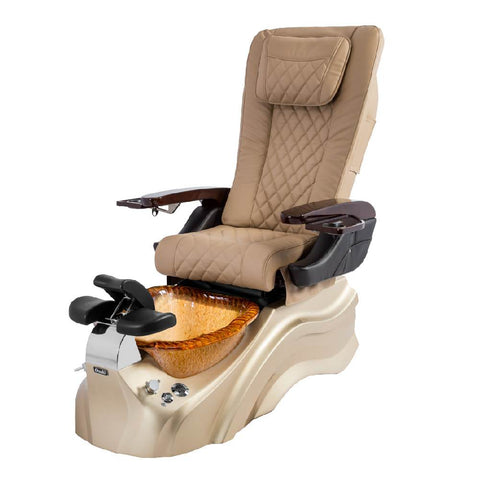 Osaki Pedicure Chairs Beige / Rosegold / Golden / With Jet Free OS-Primo With Base