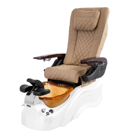 Osaki Pedicure Chairs Beige / White / Amber Clear / With Jet Free OS-Primo With Base