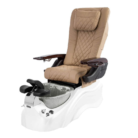 Osaki Pedicure Chairs Beige / White / Silver / With Jet Free OS-Primo With Base
