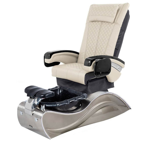 Image of Osaki Pedicure Chairs Beige / Without Jet / Stainless Steel Solid Lulu with Stainless Steel Base
