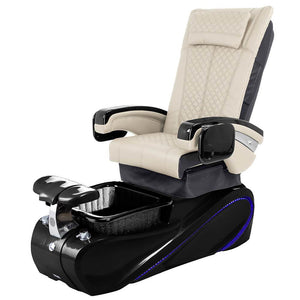 Osaki Pedicure Chairs Beige / Without Jet / Tom Spa Black Lulu with Tom Spa Base