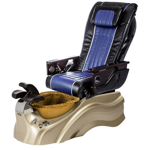 Image of Osaki Pedicure Chairs Black / Blue / Primo with Vent Gold / Gold / With Jet Free OS-OP-04 with Base Set