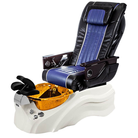 Image of Osaki Pedicure Chairs Black / Blue / Primo with Vent White / Amber / With Jet Free OS-OP-04 with Base Set