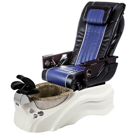 Image of Osaki Pedicure Chairs Black / Blue / Primo with Vent White / Silver / With Jet Free OS-OP-04 with Base Set