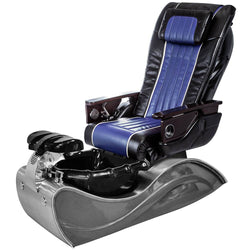 Osaki Pedicure Chairs Black / Blue / Solid Stainless Steel / With Jet FREE OS-OP-04 with Stainless Steel Base Set