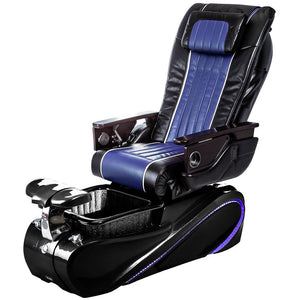 Osaki Pedicure Chairs Black / Blue / Tom Spa Black / With Jet Free OS-OP-04 with Base Set