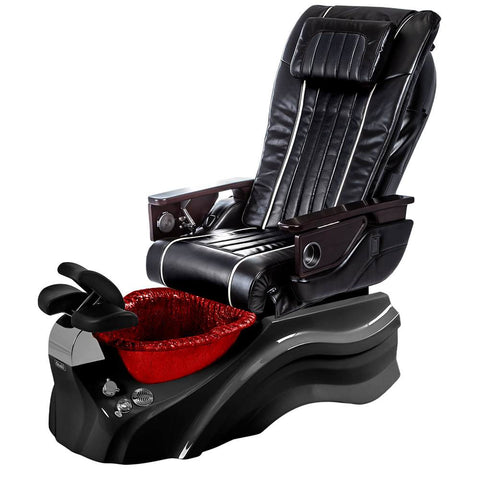 Image of Osaki Pedicure Chairs Black / Primo with Vent Black / Red / With Jet Free OS-OP-04 with Base Set