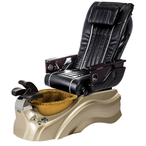 Image of Osaki Pedicure Chairs Black / Primo with Vent Gold / Gold / With Jet Free OS-OP-04 with Base Set
