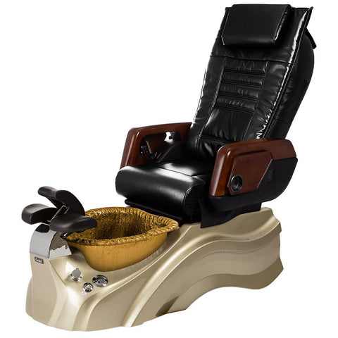 Image of Osaki Pedicure Chairs Black / Primo with Vent Gold / Gold / With Jet Free OS-OP-05 with Primo Base Set
