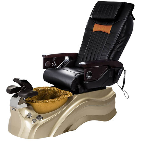 Image of Osaki Pedicure Chairs Black / Primo with Vent Gold / Gold / With Jet Free OS-OP-06 with Base Set
