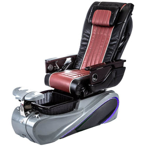 Osaki Pedicure Chairs Black / Red / Tom Spa Grey / With Jet Free OS-OP-04 with Base Set