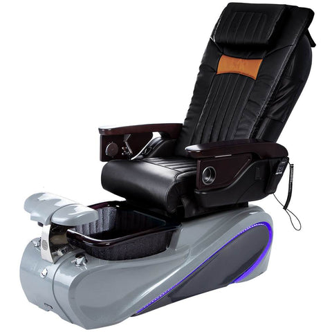 Osaki Pedicure Chairs Black / Tom Spa Grey / With Jet Free OS-OP-06 with Base Set
